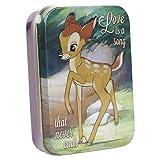 Bambi Love Is A Song qui ne finit jamais boîte collectionneurs d'étain Disney