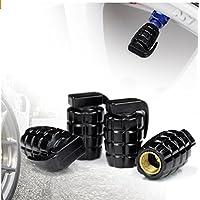 Granada estilo aleación coche rueda neumático válvulas de neumáticos Caps Covers Set de 4 para coche