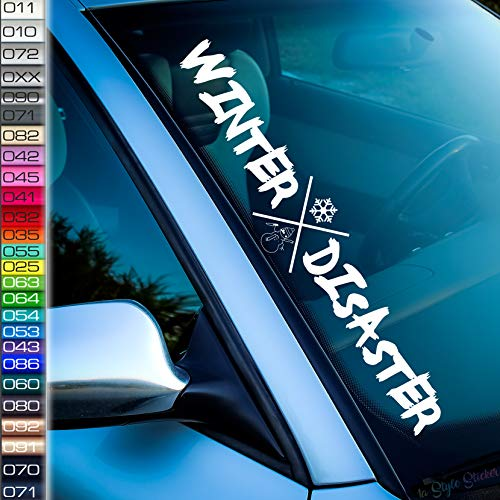 Winter Aufkleber Frontscheibe Winter-Disaster Sticker-Auto Tuningaufkleber