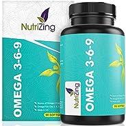 Omega 3 6 9 Olio di Pesce Puro - Con Olio di Lino, Olio di Semi di girasole e Vitamina E - 1000mg per uomini e