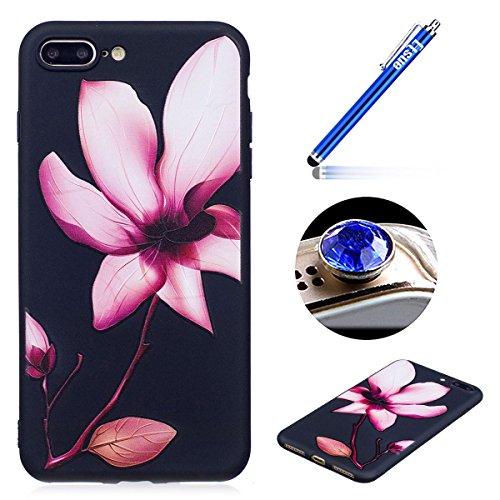 [iPhone 7 Plus] Silicone Coque,Souple TPU Coque Housse de Téléphone pour iPhone 7 Plus,Etsue Peinture Style Ultra Mince Souple TPU Silicone Lumineux Fluorescents Dans Le Case Cover pour iPhone 7 Plus