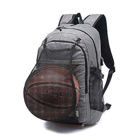 Ordinateur portable professionnel Sac à dos par Dailystar, 39,6cm College Sacs à dos avec port de chargement USB, Antivol léger Sac de voyage pour homme et femme Gray02