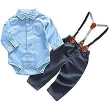 Feoya Mono con Pantalones Tirantes Ajustables Traje Diario Ropa Casual para  Bebé Niño 704eaa97b85