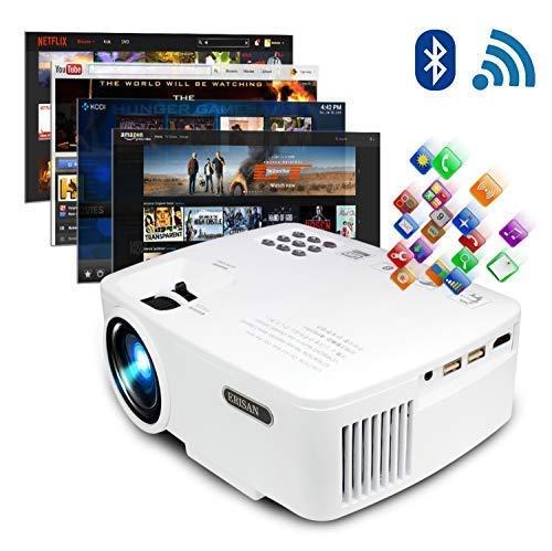 ERISAN projektor video anfang tv theater, led android 6.0 wifi zahn, 220 ansi lumen, unterstützung 1080p full hd android-projektor mit wifi blautooth