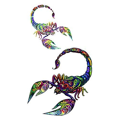 Wyuen 5pz scorpione tatuaggi temporanei donne falso tattoo men body art mano impermeabile kids tattoo 9.8x 6cm a-273