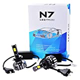 XCSOURCE 2pcs 80W 9600LM auto per COB LED H7 faro Kit impermeabile fascio lampadine 6000K Bianco LD909 [Classe energetica A +]