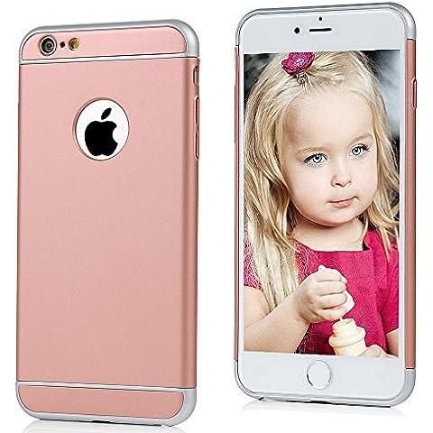 iPhone 6 Plus/6S Plus Funda, BADALink 3 en 1 Bumper Carcasa para iPhone 6 Plus/6S Plus 5.5 pulgadas Protective Case Cover (Dura rígida PC, ultrafina Slim Fit), oro