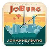 Wanduhr Stadt Deko Johannisburg Südafrika Skyline JoBurg Acryl Dekouhr Vintage Retro