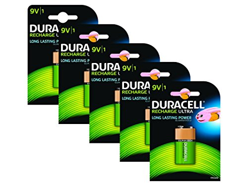 Duracell Pile Rechargeable 9 V x 5