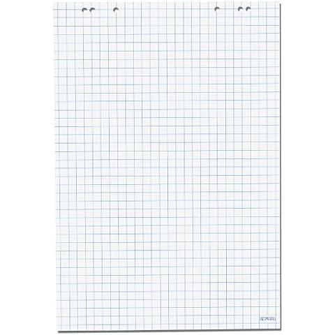 Herlitz - Lote de papel cuadriculado para rotafolio (5 unidades, 20 hojas, papel reciclado, 68 x 99 cm)