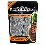 FLEXILACES - elastische Schnürsenkel | nie Wieder Schuhbänder binden - Silber