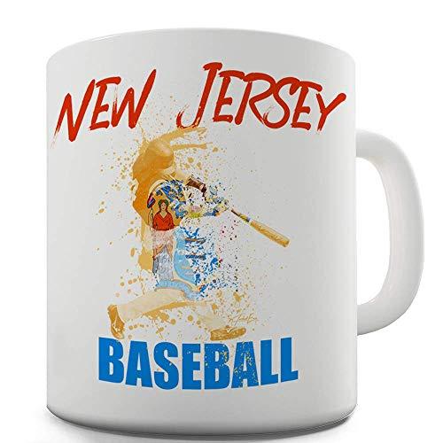 Mama Baseball Jersey (New Jersey Baseball Splatter 11 OZ Mug - Unique Coffee Mug, Coffee Cup)