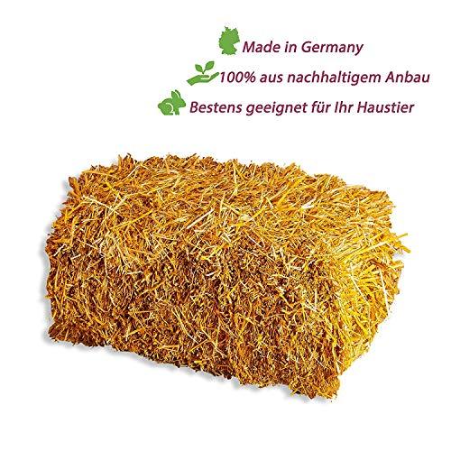 5 kg große Qualitäts Stroh Strohballen goldgelb naturbelassen als Einstreu, für Kaninchen Meerschweinchen Hasen oder als Deko direkt vom Bauern, ()