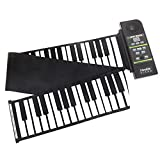 Sourcingbay-Tastiera di pianoforte elettronico 88tasti in silicone flessibile arrotolabile con altoparlante, Key-88