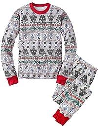 hibote Pijama Familia de la Navidad que fija la manga larga