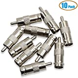 DierCosy 10 Pcs BNC Female Jack To RCA Male Plug Coax Cable Adapters