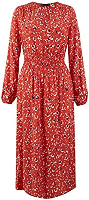Marks & Spencer Women's Animal Print Waisted Midi Dress