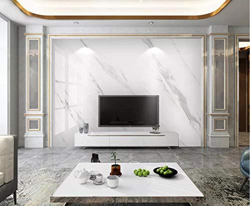 Tapeten 3D Tapete Wandbilder Moderne Und Einfache High-Definition - Weiße Marmorfliesen Vliestapete Fototapete Wanddekoration
