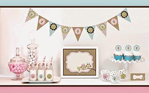 1 SET of 95 Woodland Owl Decorations Starter Kit by Eventblossom -