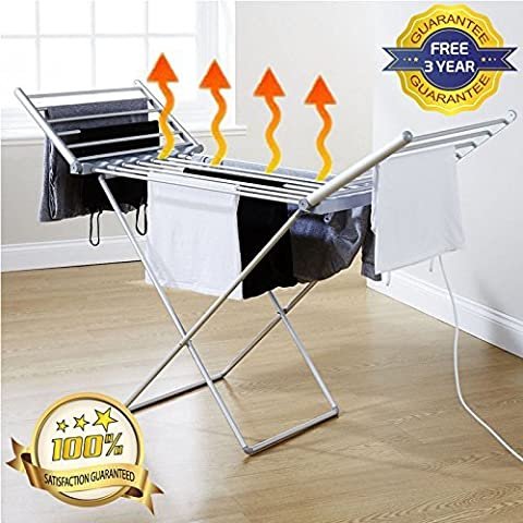 Premium Electric Heated Indoor Folding Clothes Laundry Airer Dryer Drier