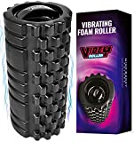 Mind Body Future Vibrating Foam Roller. High Intensity 3 Speed Firm Density - PENETRATES DEEP TISSUE MUSCLE KNOTS. Improves Your Recovery, Mobility & Flexibility