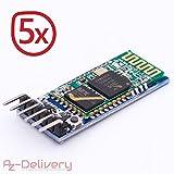 AZDelivery ⭐⭐⭐⭐⭐ 5 x HC-05 HC-06 Bluetooth Wireless RF-Transceiver-Modul RS232 serielle TTL für Arduino mit Gratis Ebook!