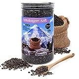 Nortembio Sal Negra del Himalaya 1,45 Kg. Gruesa (2-5 mm). 100% Naturales. Sin Refinar. Sin Conservantes. Extraídas a Mano
