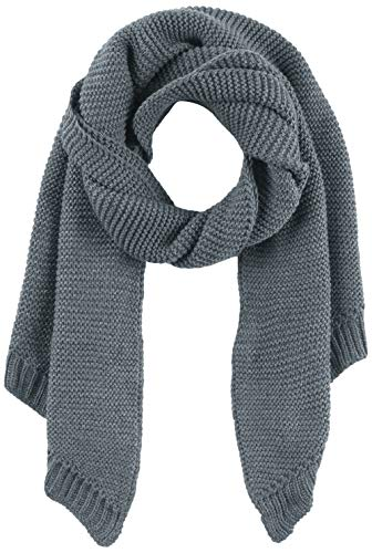 PIECES Damen PCDACE Long Wool Scarf NOOS Anzugjacke, Grau Stormy Weather, One Size