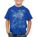 style3 Future Comet Kinder T-Shirt captain, Farbe:Blau;Größe:116