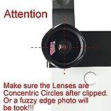 YOUMILE Handy Kamera Objektiv 2 in 1 Clip-on Objektiv Kit 112 ° Super Weitwinkel und 15X Makro Telefon Kamera Objektiv Professional HD für iPhone X 8 7 6s 6 Plus Samsung Android Smartphone iPad