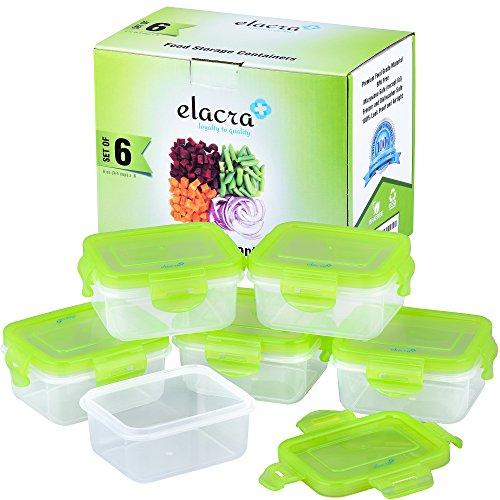 Preisvergleich Produktbild elacra Aufbewahrung von Babynahrung BPA-frei luftdicht Container Set, Gefrierschrank & Mikrowelle Safe, 6Pack
