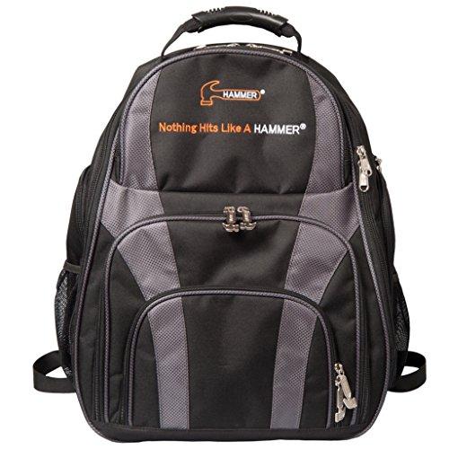 HAMMER Deuce 2-Ball Golf Rucksack Bowling Bag, Schwarz/Carbon (Gym Roller Bag)