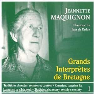 Jeannette Maquignon chanteuse du pays de redon