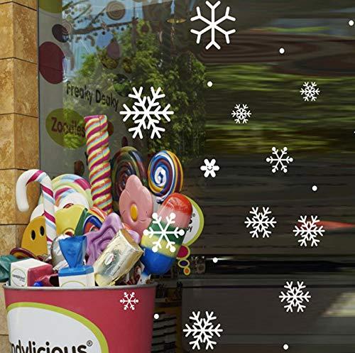 tücke Weihnachten Schneeflocke Wandaufkleber Dekoration aufkleber für fenster glas aufkleber adesivo de parede infantil ()