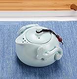 sdbey Tetera de cerámica para el hogar Juego de té Kung Fu Burbuja única Tetera Viaje Creativo té Marinero agarrar Olla té