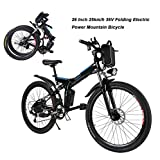 AIMADO Bicicletas Electricas de Montaña Plegables, E-Bike MTB 250W 25 km/h Shimano 12...