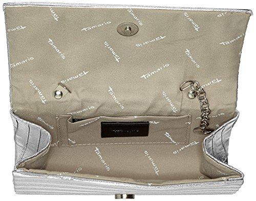 Tamaris - Ornella Clutch Bag, Pochette da giorno Donna Argento (Silver)