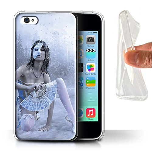 Officiel Elena Dudina Coque / Etui Gel TPU pour Apple iPhone 5C / Pack 15pcs Design / Un avec la Nature Collection Masque d'Hiver