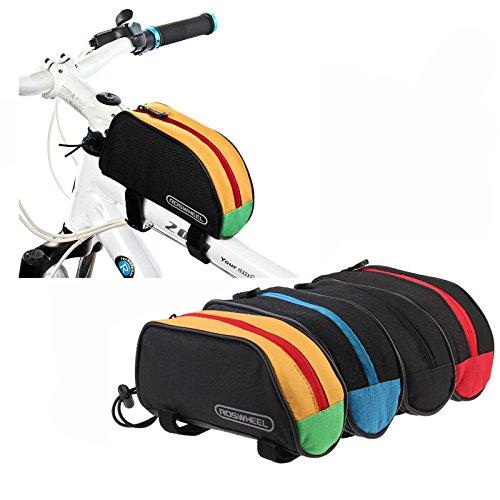 oxgrow (TM) ROSWHEEL Outdoor Mountain Fahrrad Rahmen Front Top PVC Tube Tasche Bike 1L Beutel 12654rot/blau/schwarz/gelb Gelb - gelb