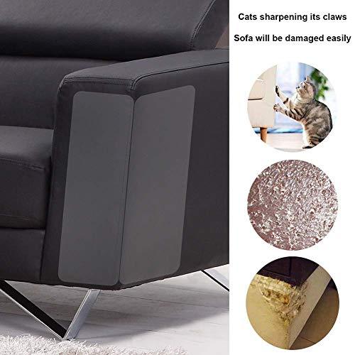 Comtervi Möbel-Kratzer-Schutz,Kratzfestes Flexibles Katzen-Sofa-Schutz schützt Haustier-Kratzer für Sofa,Couch, Stuhl oder andere Möbel 2PCS