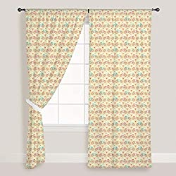 ArtzFolio Bicycles And Pink Hearts - Portrait Shape 4feet x 7feet; SET OF 2 PCS - CURTAIN for ROOM & WINDOW of PREMIUM SATIN Fabric: Digital Printed Wall Curtain: Home Dcor for Living Room, Dining Room, Bedroom, Kids Room, Dining Room, Offices, Meeting Rooms : Automobiles, Kids : Digital Art