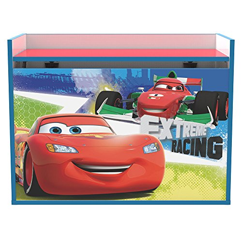 Stor baule infantile per giocattoli | cars racers - saetta mcqueen | disney - dimensioni 80 x 60 x 40 cm. - vari personaggi