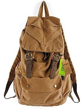Neu Herren Damen Vintage Rucksack für Outdoor Sports Schultertasche Rucksack Rucksacktasche