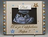 Cadre Photo Aimant pour Papa – (cadeau original pour la Fête des Pères, Anniversaire, Noël, annoncer une grossesse...)