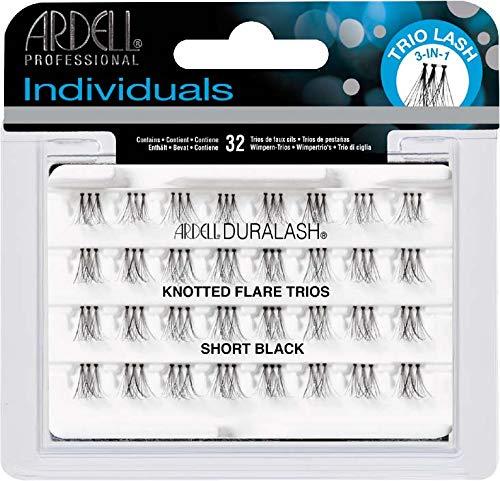 Ardell False Eyelashes - Individuals - Knotted Flare Trios - Short Black -