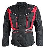 Bangla 017a Motorrad Jacke Motorradjacke Textil wasserdicht schwarz-rot 5 XL