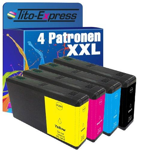 Tito-Express PlatinumSerie 4x Tinten-Patrone XXL TE7901-TE7904 für Epson WorkForce Pro WF-4600 Series WF-4630 DWF WF-5620 DWF WF-5690 DWF (Pro Drucker 4630 Workforce Epson)