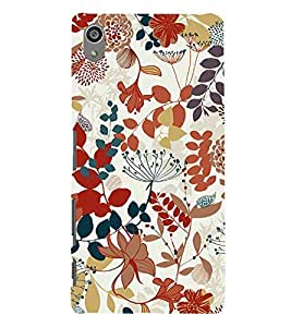 For Sony Xperia Z5 Premium (5.5 Inches) :: Sony Xperia Z5 Premium Dual floral pattern ( flower, floral pattern, nice pattern, beautiful pattern, black background ) Printed Designer Back Case Cover By Living Fill