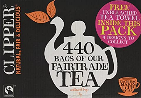 Clipper Fairtrade Everyday One Cup Teabags (440 Teabags)