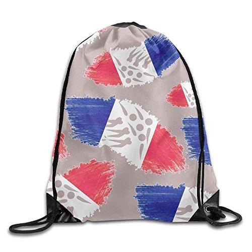 Doormat-bag Flag of France Short Track Speed Skating Unisex Waterproof Backpack Sport Drawstring Bags.